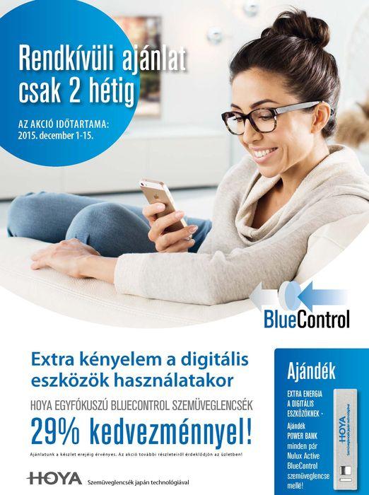 Hoya BlueControl szemüveglencse akció