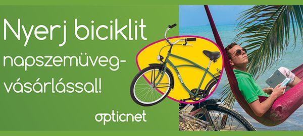 Nyerj biciklit napszemüveg vásárlással