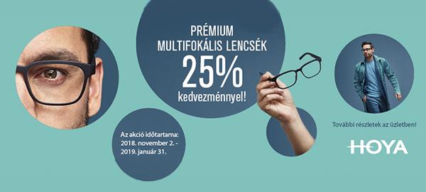 Prermium progresszív lencsék 25% kedvezménnyel