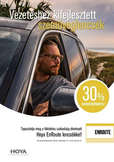 EnRoute vezetéshez kifejlesztett lencsék 30% kedvezménnyel