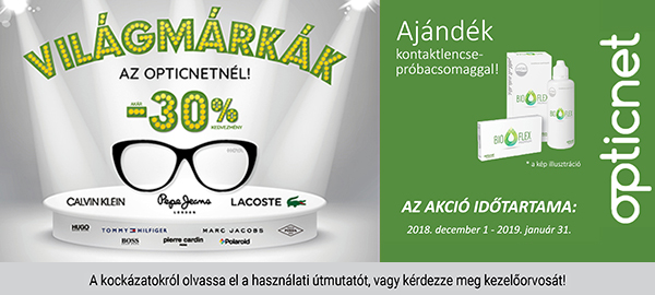 Világmárkák akcióban a Zahorecz Optikában!