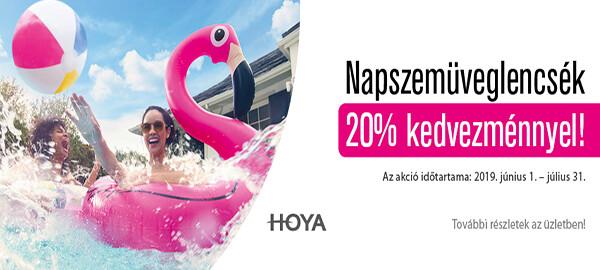 Hoya napszemüveglencsék 20% kedvezménnyel
