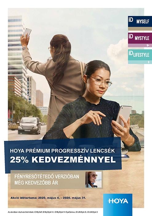 Hoyalux ID prémium progresszív lencsék 25% kedvezménnyel