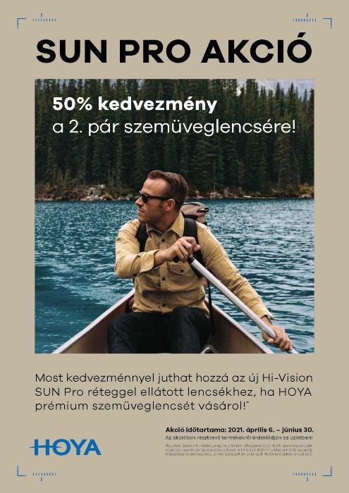 A HOYA vadonatúj fejlesztésű Hi-Vision SUN Pro prémium felületkezelés akció