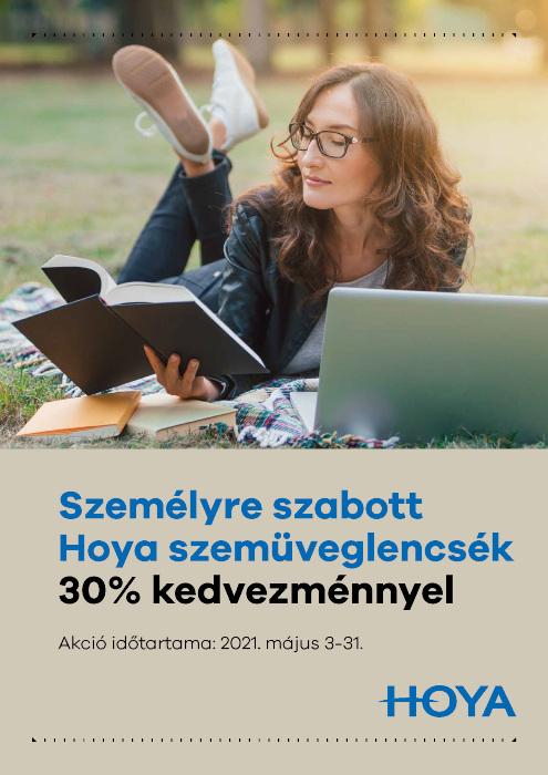 Személyre szabott Hoya szemüveglencsék 30% kedvezménnyel!