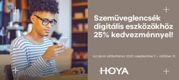 Hoya beltéri és SYNC III szemüveglencsék 25% kedvezménnyel!