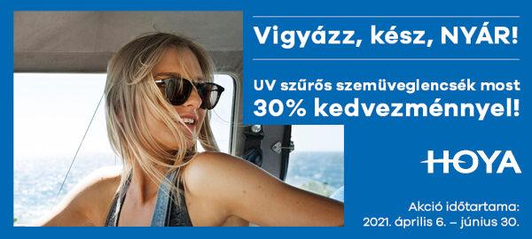 Hoya fényresötétedő és napszemüveglencsék 30% kedvezménnyel