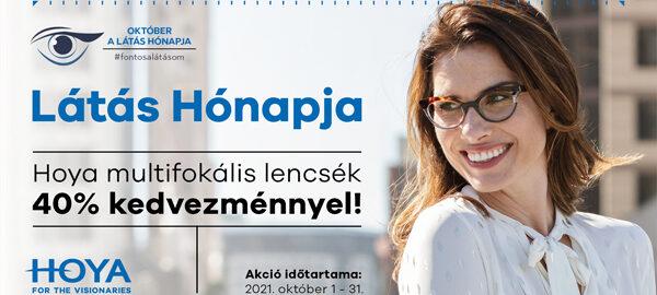 Hoya multifokális szemüveglencsék 40% kedvezménnyel